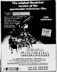 'Battlestar Galactica' in Sensurround at the Regency Theatre. - , Utah