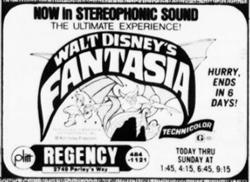 'Fantasia', 'now in stereophonic sound,' at the Regency Theatre. - , Utah