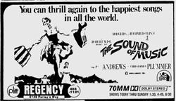 'The Sound of Music' in 70mm Dolby Stereo at the Regency Theatre.  'You can thrill again to the happiest songs in all the world.' - , Utah