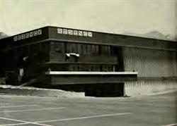 """Exterior view of the three-level building."" - , Utah"