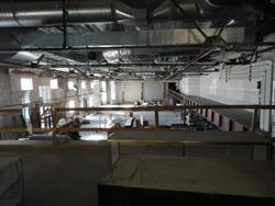 Looking across three of the former auditoriums, through a window on the second level of the mall. - , Utah