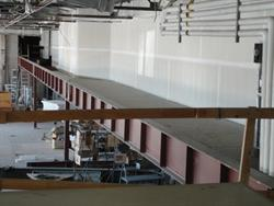 A new wall has been built down the middle of the former projection booth, to create a back hallway for the mall. - , Utah