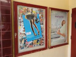 Poster cases on the left side of the entrance. - , Utah