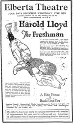 Newspaper advertisement for the Elberta Theatre in 1926. - , Utah