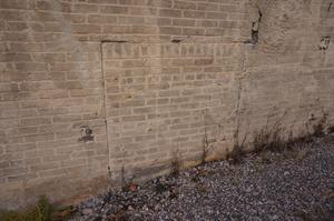 A bricked up window or coal chute. - , Utah