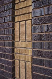 Brickwork on the left side of the theater entrance. - , Utah