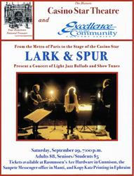 "Ad for Lark & Spur at the Casino Star Theatre, ""Your Hometown National Treasure."" - , Utah"