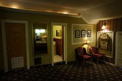The north side of the lobby, with the door to the foyer partially visible on the right. - , Utah