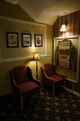 Two chairs and a lamp, near the door to the foyer. - , Utah