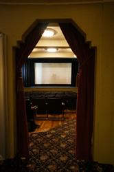 A view of the screen through the right auditorium entrance. - , Utah