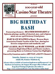 Advertisement for the 100-year birthday of the Casino Star. - , Utah