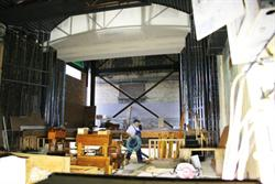 New walls frame the proscenium of the stage. - , Utah