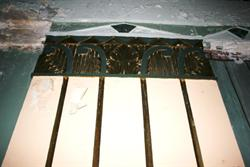 The top of a column on the auditorium side wall. - , Utah