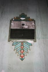 An art Deco design on the side wall of the auditorium. - , Utah