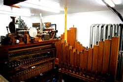 The organ chamber located directly behind the orchestra pit containing all of the organ's pipes and special effects. - , Utah