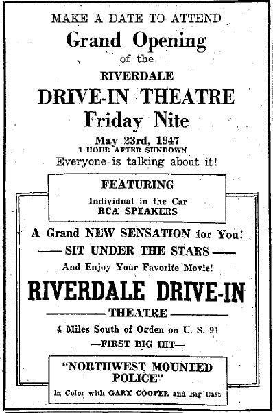 Newspaper Ads Riverdale Drive In Theatre