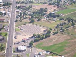 A photo of the Sunset Drive-In taken from an airplane in 2004. - , Utah