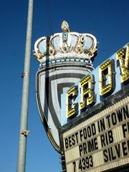 The crown on the marquee, from the east. - , Utah