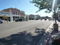 Main Street in Price, looking east toward the Crown Theatre. - , Utah