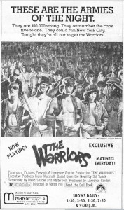 An exclusive showing of 'The Warriors' at the Mann Riverdale Plaza 4. - , Utah