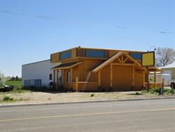 In 2011, the front of the Movies was being remodeled with a log cabin motif. - , Utah