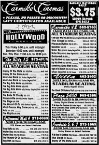 The Ritz 15 in the Carmike Cinemas newspaper ad, on opening day. - , Utah