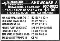 Advertisement for the 'Showcase 8' as part of the CinemaStar Theatres chain. - , Utah