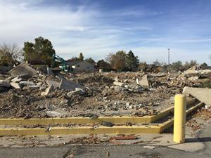 Looking across the former theater site from the southeast corner to the northwest. - , Utah