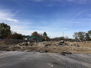 Looking across the demolition site from the east. - , Utah