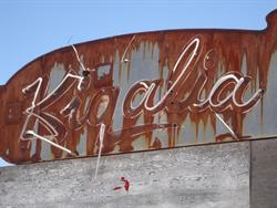 """Kigalia"" on the north side of the sign, still outlined with some neon. - , Utah"
