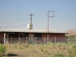 A fenced-off tire repair shop. - , Utah