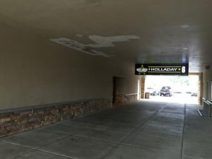By 2016, the ticket window had been removed from the hallway leading back to the theater entrance. - , Utah