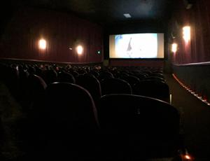 A flat panorama of Theater 4, from the back right. - , Utah