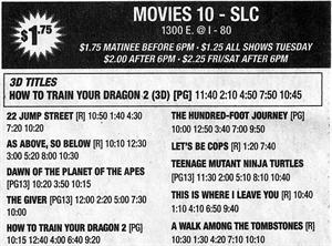 The last advertisement for the Movies 10 - SLC theater, before it closed for remodeling. - , Utah