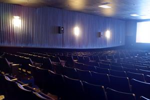 Lots of empty seats before a showing of <em>War for Planet of the Apes</em>. - , Utah