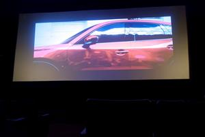 A view of the screen from the third row. - , Utah