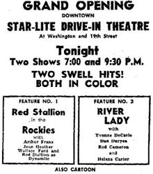 Grand Opening ad for the Star-Lite Drive-In Theatre. - , Utah
