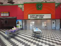 After being annexed into Tinseltown, the Movies 10 lobby became a party room. - , Utah