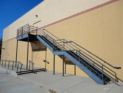 Exit stairs for the projection level. - , Utah