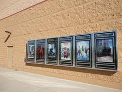Six poster cases and an exit door, on the right side of the entrance. - , Utah