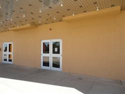 The outline of the two ticket booths can still be seen on the ceiling and floor. - , Utah