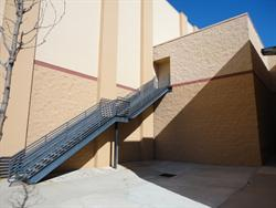 Stairs down from the projection level of Tinseltown. - , Utah