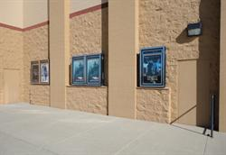 Poster cases and exit doors, on the right side of the entrance. - , Utah