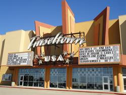 The marquee and entrance of the theater. - , Utah