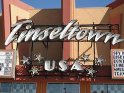 The name of the theater, with six neon stars. - , Utah