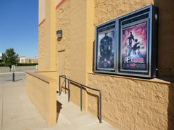 Poster cases and an exit door, on the left side of the entrance. - , Utah