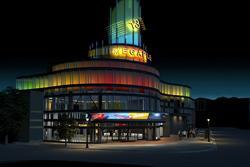 Architectural rendering of the Megaplex 13 exterior at night - , Utah
