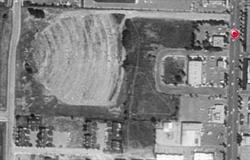 Aerial view of the Cache Drive-In Theatre in 1993. - , Utah