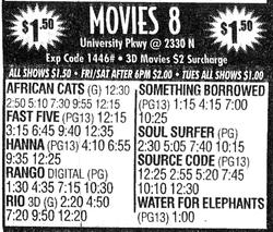 Ad for Movies 8, with two auditoriums equipped for digital projection. - , Utah