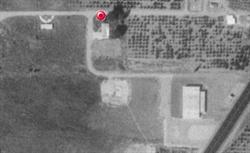 An aerial photo of the site where the Big See Drive-In Theatre was located. - , Utah